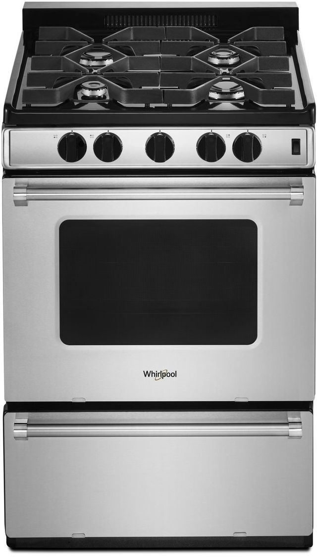 "Whirlpool® 24"" Free Standing Gas Range-Stainless Steel-WFG500M4HS"