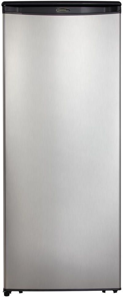 Danby® 11.0 Cu. Ft. Black with Stainless Steel All Refrigerator-DAR110A1BSLDD