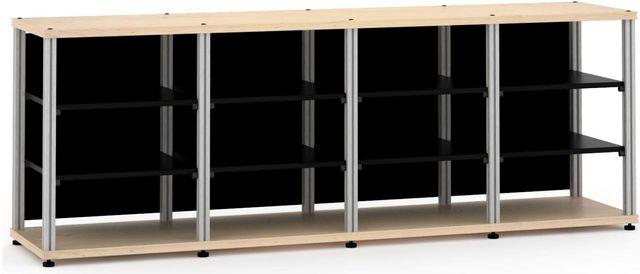 Salamander Designs® Synergy Quad 30 AV Cabinet-Natural Maple/Aluminum-SQ30M/A