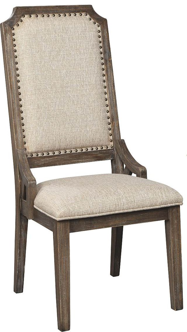 Signature Design by Ashley® Wyndahl Rustic Brown Upholstered Dining Side Chair-D813-02