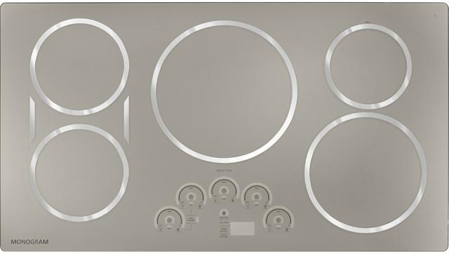 "Monogram® 36"" Induction Cooktop-Silver-ZHU36RSJSS"