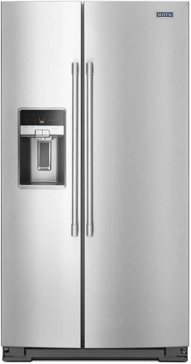 Maytag® 20.6 Cu. Ft. Fingerprint Resistant Stainless Steel Counter Depth Side By Side Refrigerator-MSC21C6MFZ