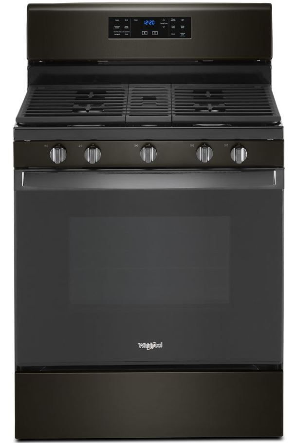 "Whirlpool® 30"" Black Stainless Free Standing Gas Range-WFG535S0JV"