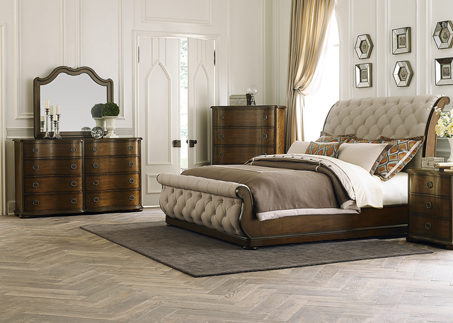 Liberty Furniture Cotswold 4 Piece Cinnamon Queen Sleigh Bedroom Set-545-BR-QSLDMC
