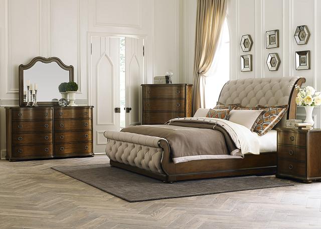 Liberty Furniture Cotswold 5 Piece Cinnamon Queen Sleigh Bedroom Set-545-BR-QSLDMCN