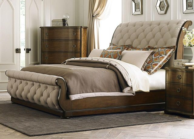 Liberty Furniture Cotswold 4 Piece Cinnamon Queen Sleigh Bedroom Set-545-BR-QSLDMN