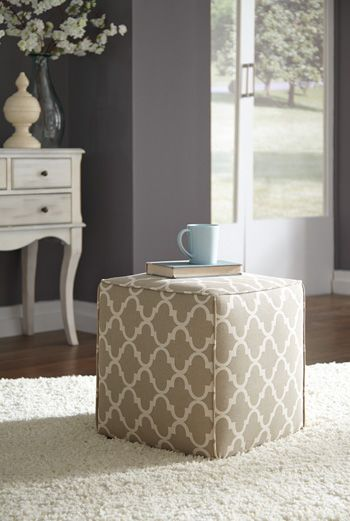 Signature Design by Ashley® Kamibol Taupe Accent Ottoman-5490513