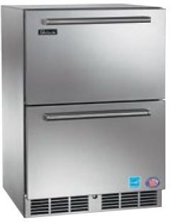 Perlick Signature Series 5.2 Cu. Ft. Compact Refrigerator Drawers-Wood Overlay-HP24RS-6