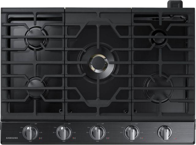 """Samsung 30"""" Gas Cooktop-Fingerprint Resistant Black Stainless Steel-NA30N7755TG"""