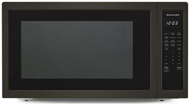 KitchenAid® 2.2 Cu. Ft. Black Stainless Steel Countertop Microwave Oven-KMCS3022GBS