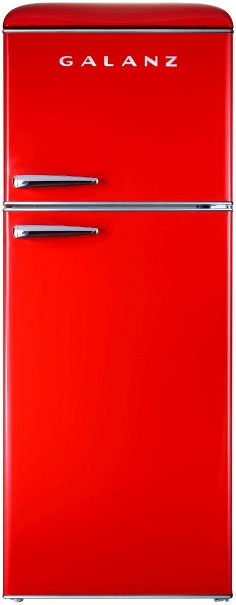 Galanz 10 Cu. Ft. Hot Rod Red Retro Top Mount Refrigerator-GLR10TRDEFR