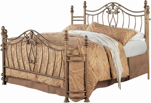 Coaster® Sydney Antique Brushed Gold Eastern King Bed-300171KE
