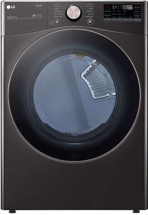 LG 7.4 Cu. Ft. Black Steel Front Load Gas Dryer-DLGX4001B