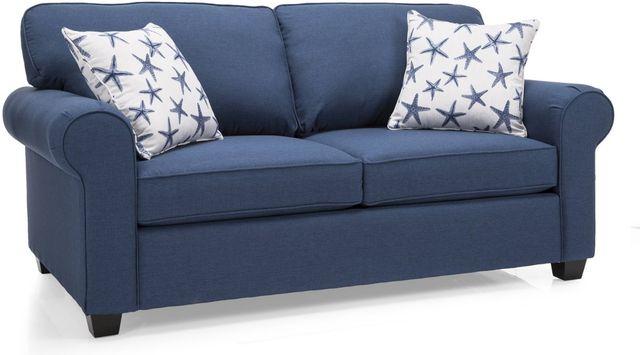 Decor-Rest® Furniture LTD 2179 Blue Condo Sofa-2179-CONDO SOFA