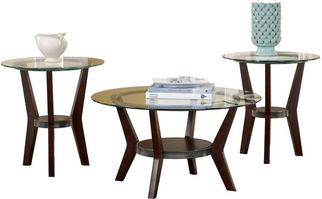 Signature Design by Ashley® Fantell Dark Brown Occasional Table Set (3/CN)-T210-13
