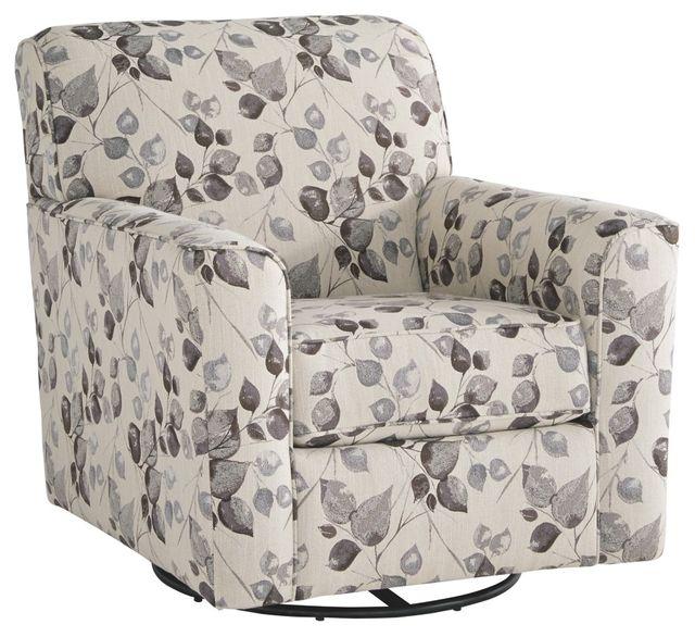 Benchcraft® Abney Platinum Swivel Accent Chair-4970142