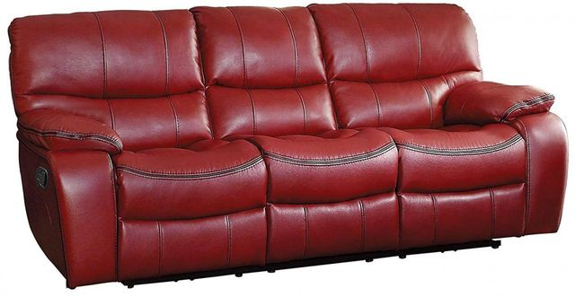 Pecos Red Double Reclining Sofa-8480RED-3