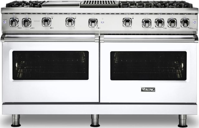 "Viking® Professional 5 Series 60"" Pro Style Gas Range-White-VGR5606GQWHLP"