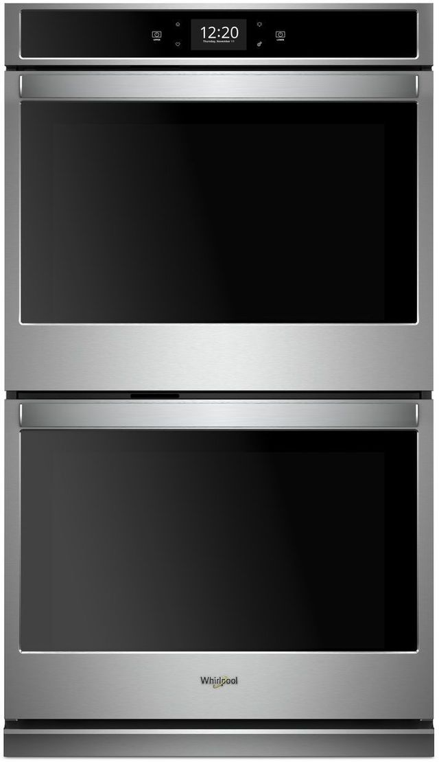 """Whirlpool® 30"""" Electric Double Oven Built In-Black-On-Stainless-WOD77EC0HS"""
