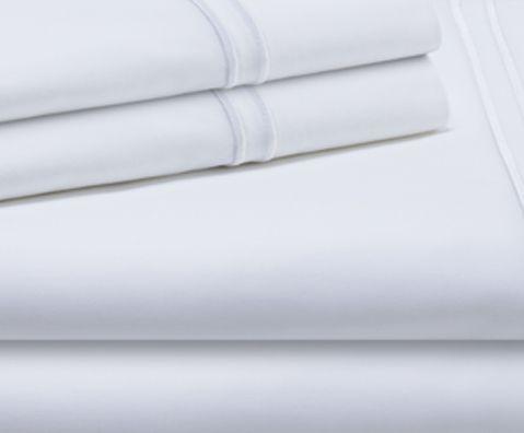 Malouf® Sleep Woven™ Supima® Premium Cotton White Full Sheet Set-MAS6FFWHSS