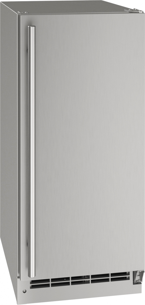 """U-Line® 15"""" Stainless Solid Outdoor Refrigerator-UORE115-SS01A"""