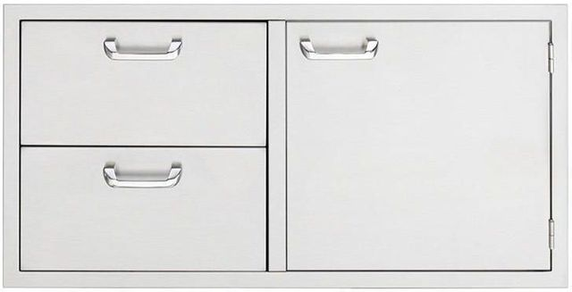 "Lynx® Sedona 42"" Storage Door And Double Drawer Combo-Stainless Steel-LSA742"