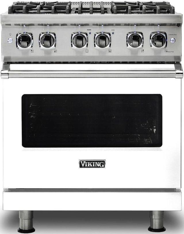 "Viking® Professional 5 Series 30"" Pro Style Dual Fuel Range-White-VDR5304BWH"