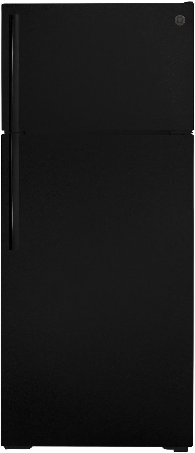 GE® 17.5 Cu. Ft. Black Top Freezer Refrigerator-GTE18GTNRBB