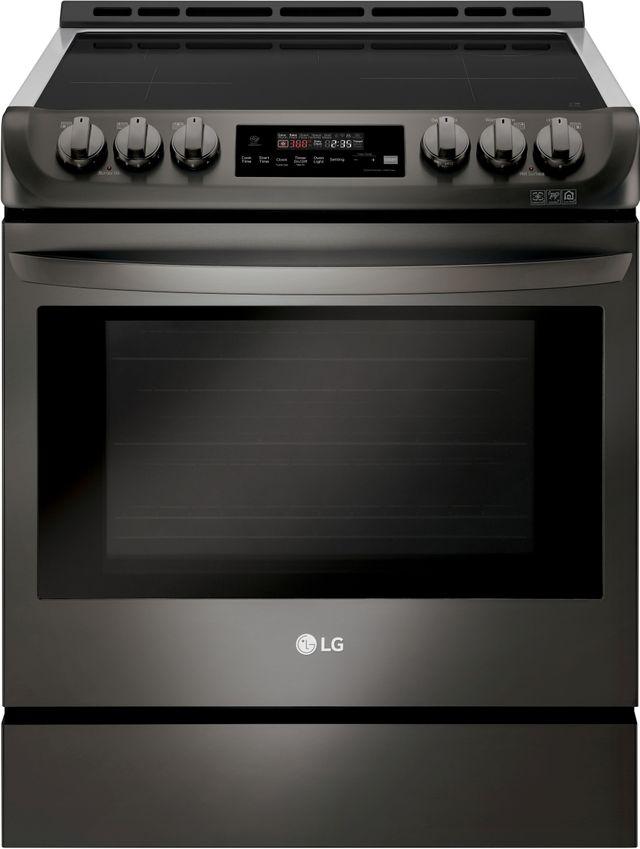 Cuisinière électrique encastrée à induction LG® de 6,3 pi³ de 30 po - Acier inoxydable noir-LSE4616BD
