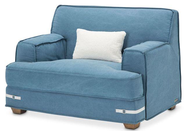 Michael Amini® Penninsula Denim Chair and a Half-KIA-PENN838-DEN-215