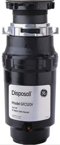 GE® 1/2 HP Continuous Feed Food Waste Disposer-Black-GFC520V