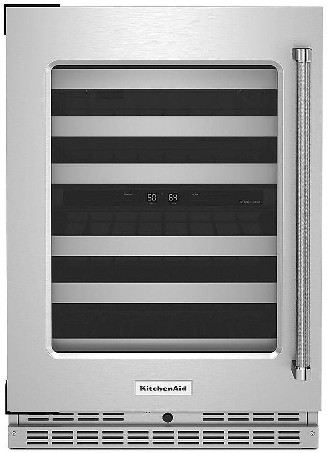 KitchenAid® 4.97 Cu. Ft. Stainless Steel Wine Cooler-KUWL314KSS