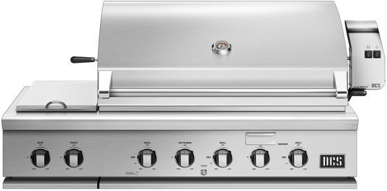 """DCS Series 7 47.88"""" Brushed Stainless Steel Traditional Built In Grill-BH1-48RS-L"""