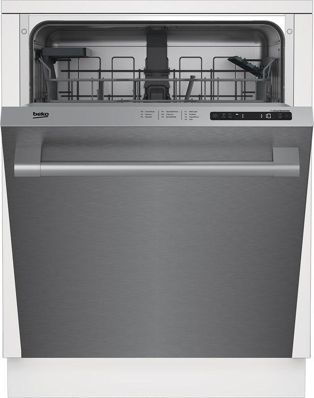 """Beko 24"""" Fingerprint Free Stainless Steel Built In Dishwasher-DDT25401X"""