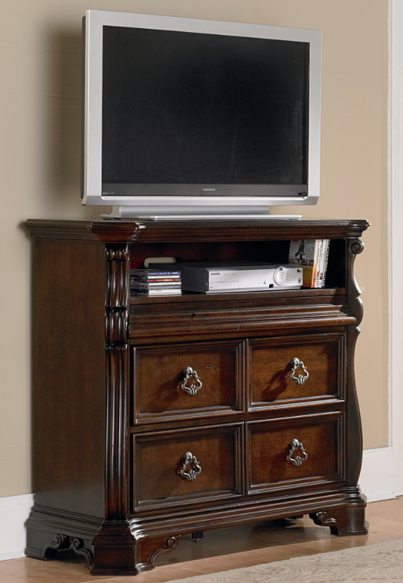 Liberty Furniture Arbor Place Brownstone Media Chest-575-BR45