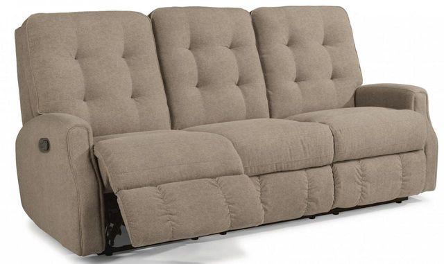 Flexsteel® DevonLeather Reclining Sofa withoutNailheadTrim-3882-62