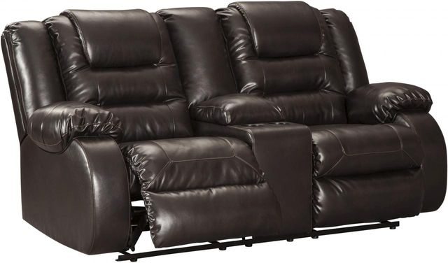 Signature Design by Ashley® Vacherie Chocolate Double Reclining Console Loveseat-7930794