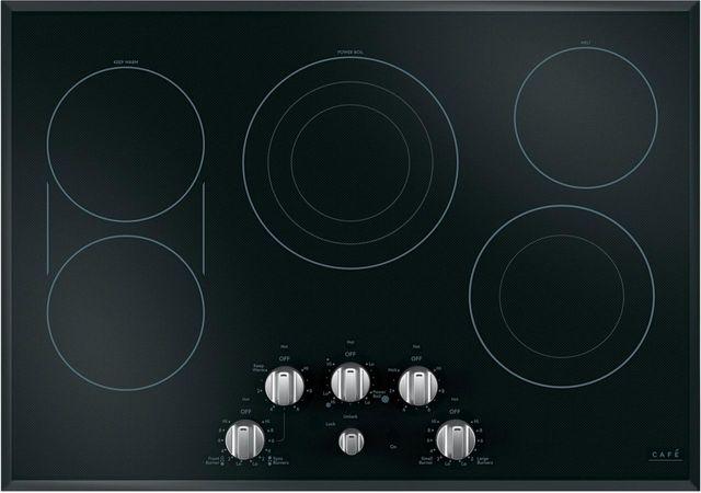 """Café™ 30"""" Black Electric Cooktop-CEP70302MS1"""