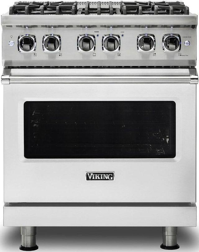 "Viking® Professional 5 Series 30"" Pro Style Dual Fuel Range-Stainless Steel-VDR5304BSSLP"
