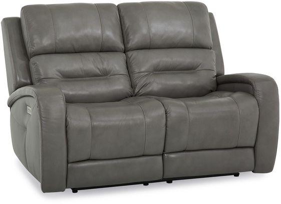 Causeuse inclinable motorisée avec appuie-tête et support lombaire motorisés motorisée Washington en tissu gris Palliser Furniture®-41067-L7