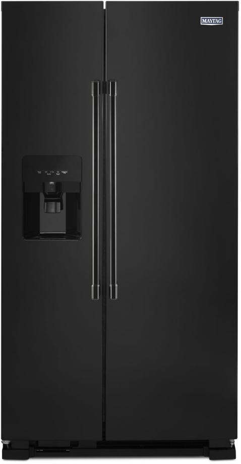 Maytag® 24.51 Cu. Ft. Black Side By Side Refrigerator-MSS25C4MGB