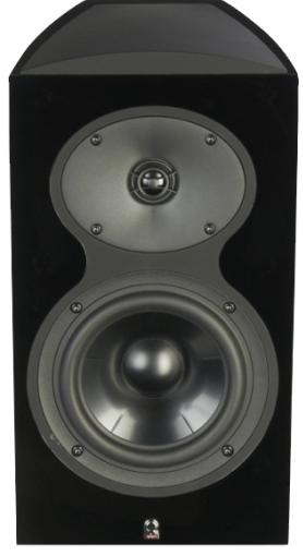 """Revel® Performa3 Series 6.5"""" 2-Way Bookshelf Loudspeaker-Piano Black-M106 BK"""