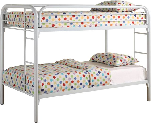 Coaster® Morgan White Twin Bunk Bed-2256W
