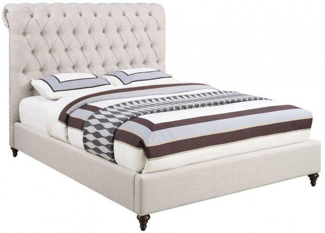 Coaster® Devon Beige Queen Upholstered Bed-300525Q