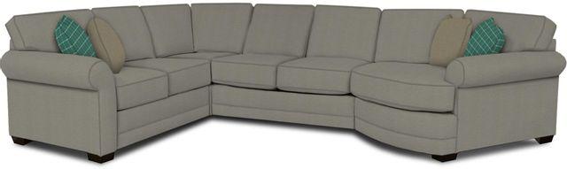 England Furniture Co. Brantley 4 Piece Culpepper Cement/Alvarado Mineral/Sterlington Artichoke Sectional-5630-28-22-43-95+8612+8579+8601