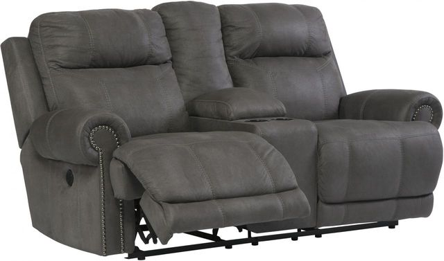 Signature Design by Ashley® Austere Gray Double Reclining Power Loveseat-3840196