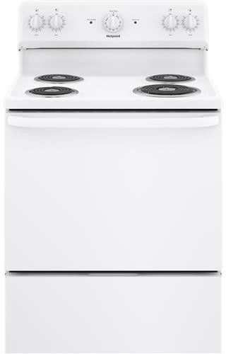 """Hotpoint® 30"""" White Free Standing Electric Range-RBS160DMWW"""