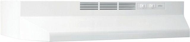 "Broan® Buez1 Series 24"" White Ductless Under Cabinet Range Hood-BUEZ124WW"