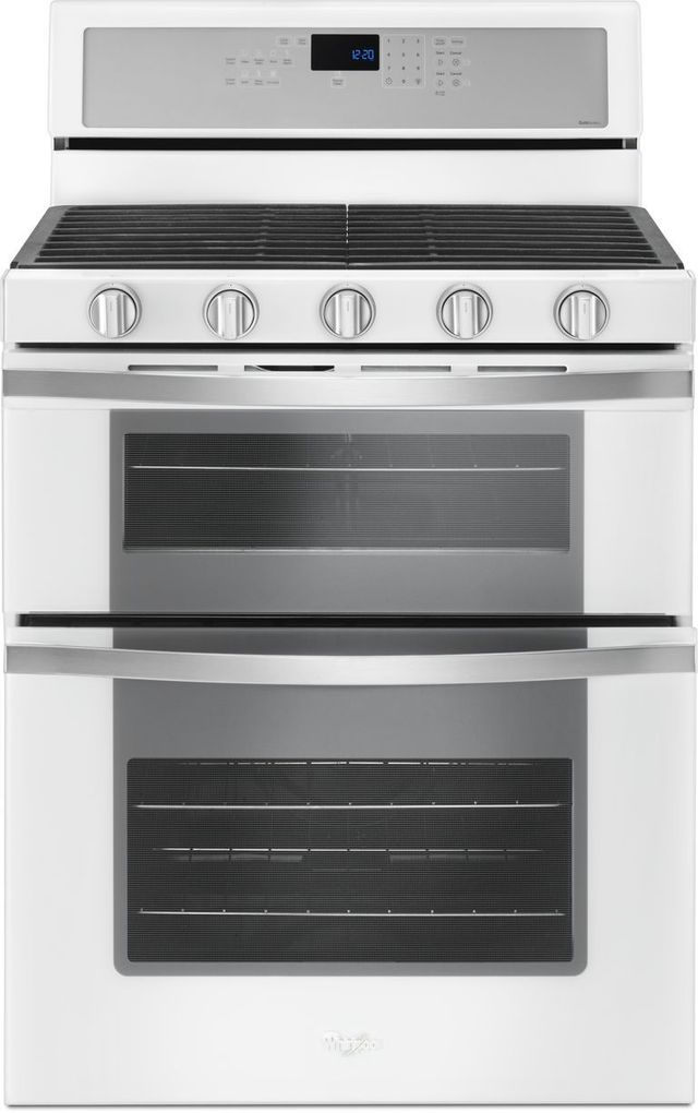 """Whirlpool® 30"""" Gas Built In Double Oven-White Ice-WGG745S0FH"""
