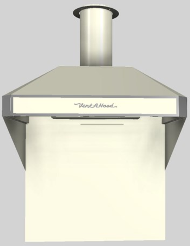 """Vent-A-Hood® A Series 36"""" Retro Style Wall Mounted Range Hood-Biscuit-AH12-236 BT"""